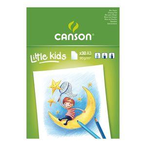 BLOC DIBUJO LITTLE KIDS A3 CANSON 30HOJAS 90GR