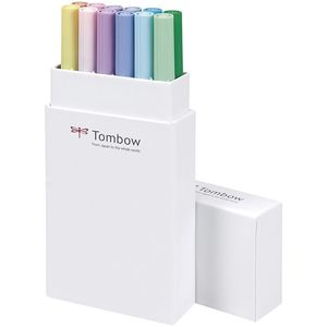 ROTULADOR TOMBOW 12 COLORES DUAL BRUSH PASTEL