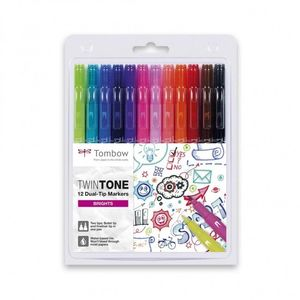 ROTULADOR TOMBOW TWINTONE 12 COLORES
