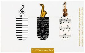 MARCAPAGINAS MAGNETICO TEMA MUSICA 6 UNIDADES