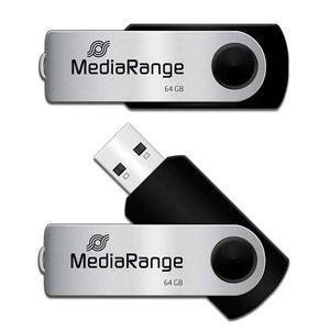 PEN DRIVE MEDIARANGE USB 64 GB. NEGRO