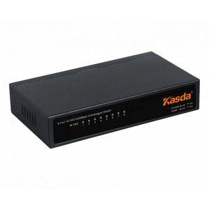 SWITCH KASDA 8 PUERTOS 10/100/1GB METALICO