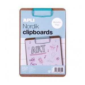 CLIPBOARD MADERA A5 CLIP AZUL NORDIK