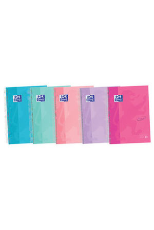 BLOC OXFORD TOUCH PASTEL EUROPEANBOOK 5 COLORES A4+ 120H 90 GR CDL 5X5 TE STD