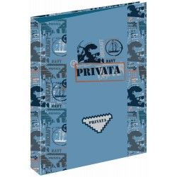 CARPETA 4 ANILLAS 35 MM PRIVATA NAVY