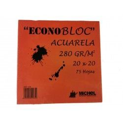 BLOC DIBUJO ECONOBLOC ACUARELA 280GR. 20X20