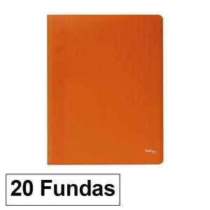 CARPETA FUNDAS PLUS A4 ECO 20FNARANJA
