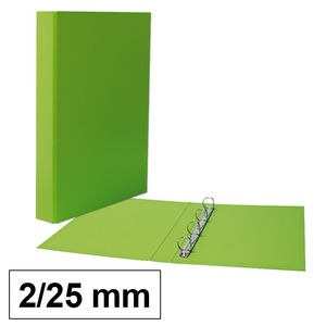 CARPETA CARTÓN PLUS Fº 2A/25MM VERDE CLARO