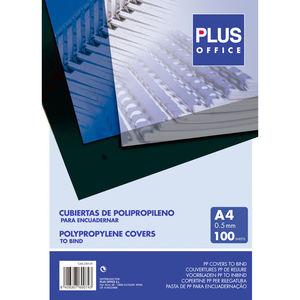 CUBIERTA PP PLUS A4 0,5 TRANS 100U.