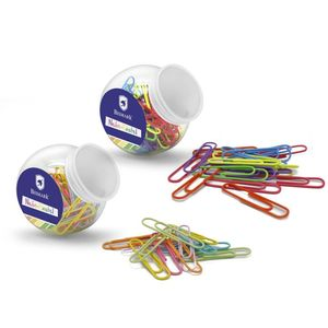 MINI BOTE CLIPS METÁLICOS 50 UDS NEON-PASTEL