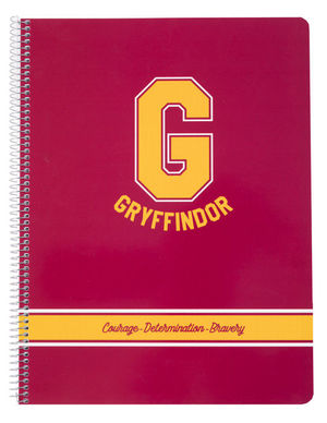 CUADERNO TAPA PP A4 5X5 MICROPERF HARRY POTTER GRYFFINDOR