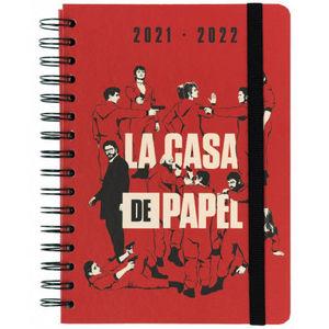AGENDA ESCOLAR 2021/2022 A5 SV 12 MESES LA CASA DE PAPEL