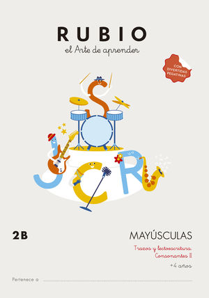 CUADERNO MAYUSCULAS 2B RUBIO
