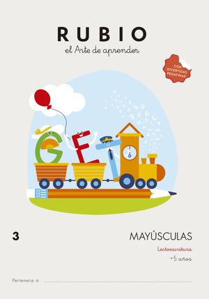 CUADERNO MAYUSCULAS 3 RUBIO