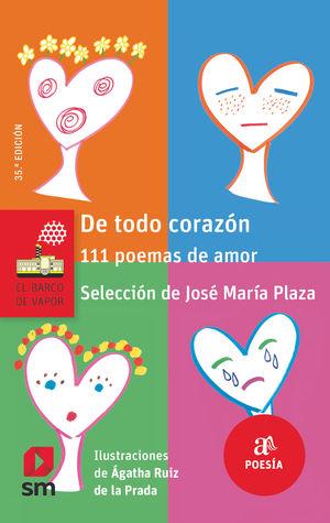 BVR.115 DE TODO CORAZON 111 POEMAS DE A