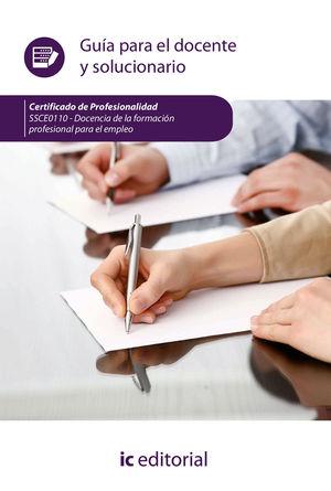 DOCENCIA DE LA FORMACIÓN PROFESIONAL PARA EL EMPLEO. SSCE0110 - GUÍA PARA EL DOC